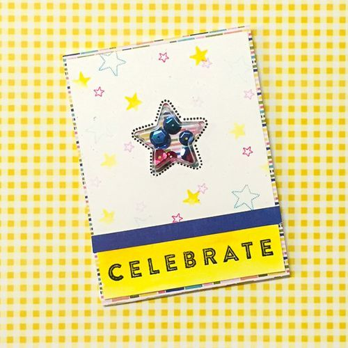 Celebrate Card by Diane Payne featuring Jillibean Soup Shape Shakers: