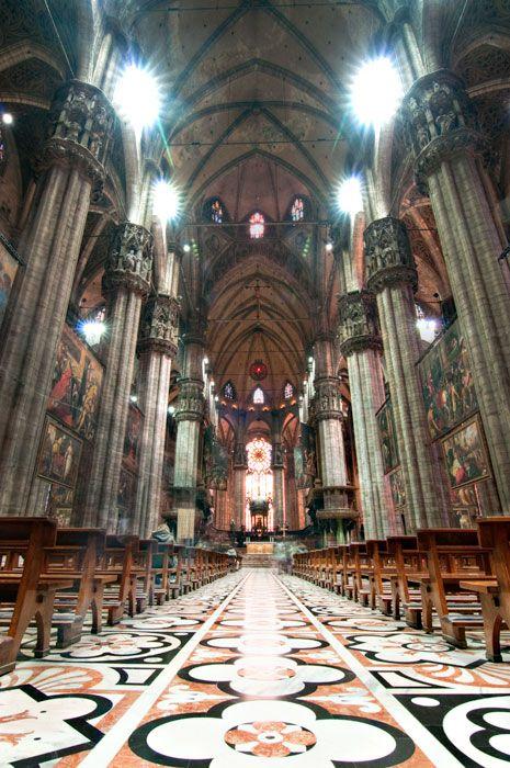 Inside the Duomo, Milan, Italy
