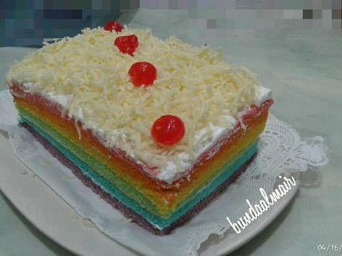 Resep Rainbow Cake Panggang Ny Liem Oleh Mindy Aulia Resep Kue Pelangi Kue Makanan
