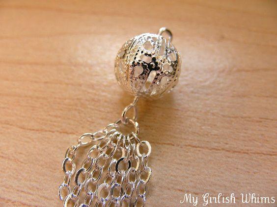 DIY Chain Tassel Earrings | My Girlish Whims