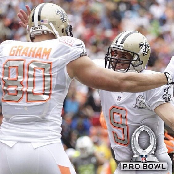 #REPOST from @Paige Wilczek: #Saints players and Team Rice defeated Team Sanders in the 2014 Pro Bowl! #Padgram