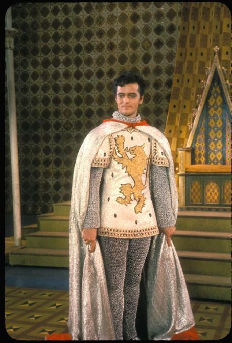 Robert Goulet as Lancelot in Camelot.