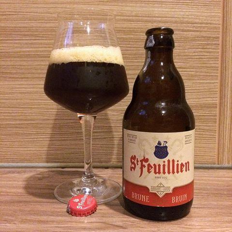 Bia St Feuillien Brune 8,5% - Chai 330ml