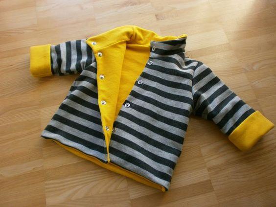 Edeltraud mit Punkten: Baby-Jacke  Nähen für Kinder  Pinterest