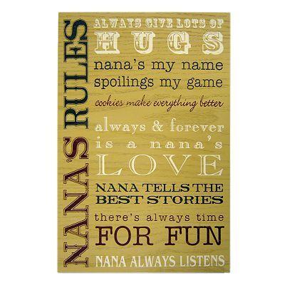 Nana's Rules Wall Plaque | DIY Crafts I