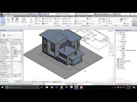 Revit Complete Project 7 Modern House Design In Revit Model In Place Youtube Revit Tutorial Revit Architecture Modern House Design