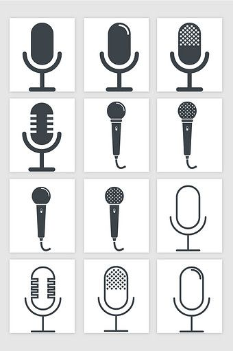 Microphone Microphone Flat Icon Vector Png Images Ai Free Download Pikbest Design Podcast Microphone Drawing Microphone Icon