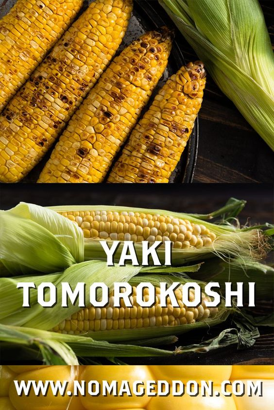 Yaki Tomorokoshi (焼きとうもろこし) is Japanese grilled corn sold at food carts/stands, at street fairs, and summer celebrations. Corn on the cob has never been tastier.
