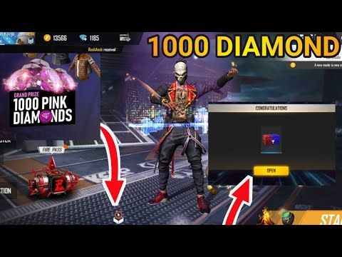 Free Fire New Event Watch Video Get Free Diamond 1000 Pink