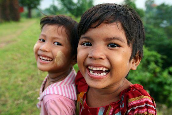 Adorable kids from Burma :)