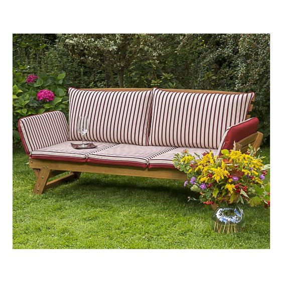 Gartenbank Aus Massivholz Kissen Kaufen Lounge Gartenmobel Gartenbank