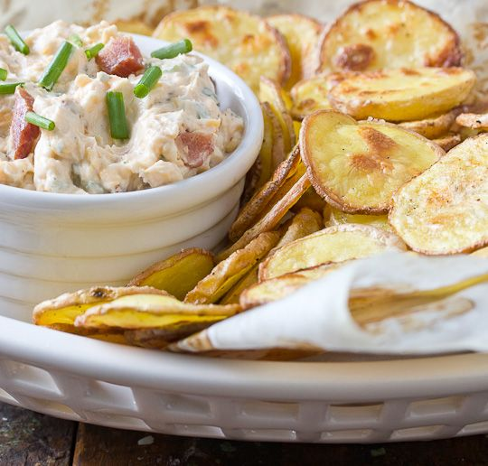 Homemade Potato Chips and Loaded Baked Potato Dip......just in time for FOOTBALL SEASON!!