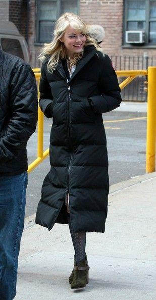 Canada Goose chateau parka online price - Emma Stone Photos Photos: Emma Stone on the 'Spider-Man 2' Set ...