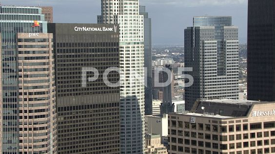 High Rise Buildings In The Business Area In Los Angeles Stock Footage Ad Buildings Business High Rise With Images High Rise Building Building Us Bank Tower