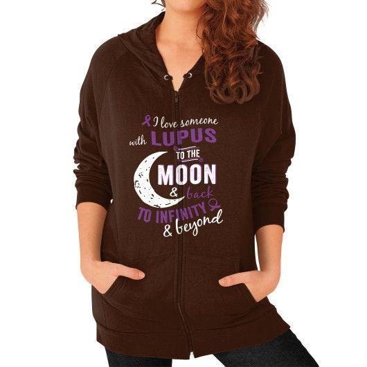 I LOVE SOMEONE lupus Zip Hoodie (on woman)