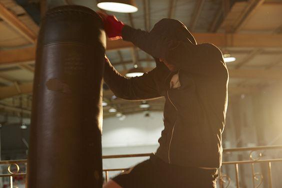 Entrena con una punching bag