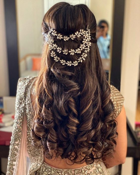 Hairstyle On Lehenga Hairstyle On Lehenga Bridal Hair Buns Engagement Hairstyles Hair Styles