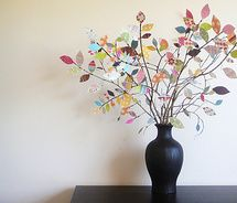 paper leaves easter tree