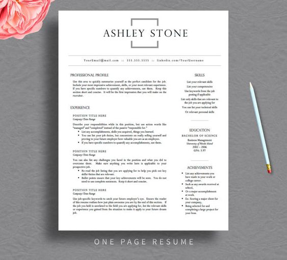 professional resume template for word  amp  pages  resume cover letter    professional resume template for word  amp  pages  resume cover letter   free resume tips