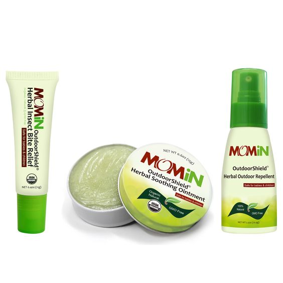 MOMiN® OutdoorShield® Soothing Ointment, Bite Relief & Repellent Bundle