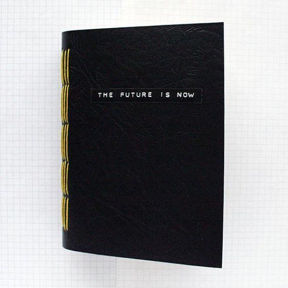 El futuro es ahora diario de viaje 4.5 x 6 pulgadas por badbooks