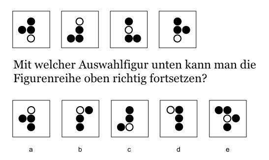 """Logisches Denken und Abstraktion in Eignungstests und Assessment Center. Hier ein Beispiel zu """"Figurenreihen fortsetzen""""."""