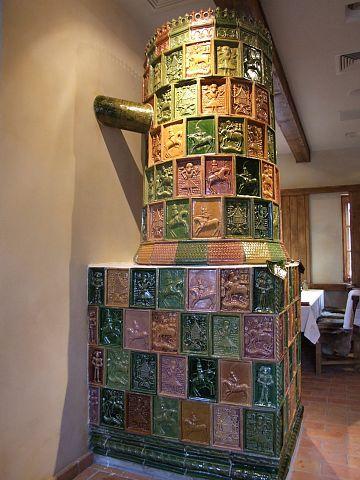 Tiled stove
