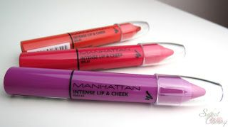 Maybelline Intense Lip & Cheek Balm 001 Tomato Juice, 002 Fly Me Pretty,  003 First Class http://www.sweetcherry.de/2013/10/swatches-beauty-in-air-intense-lip.html