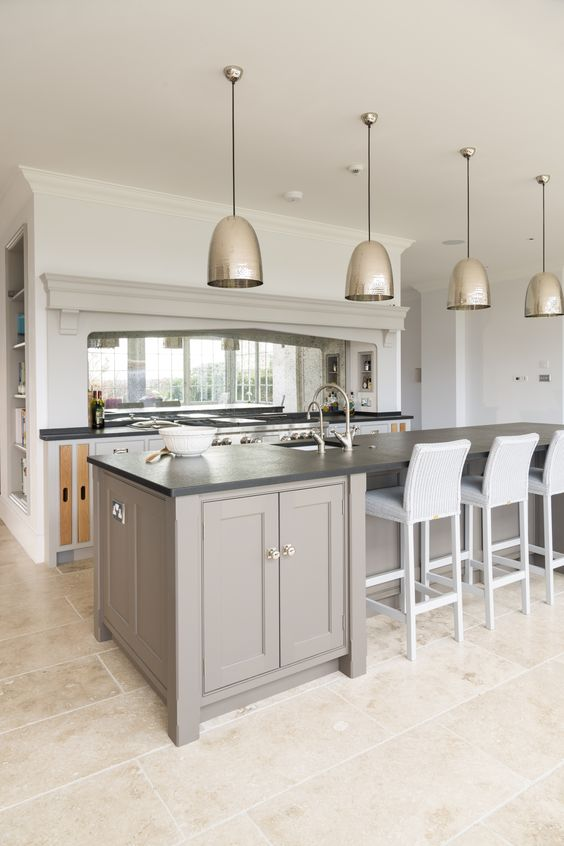 This is how I envisage my kitchen will look when I change the chimney over the range & the lights over the centre island