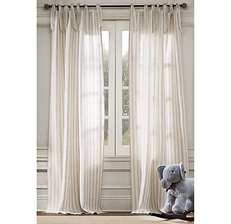 love this linen striped drapes. rh of course.