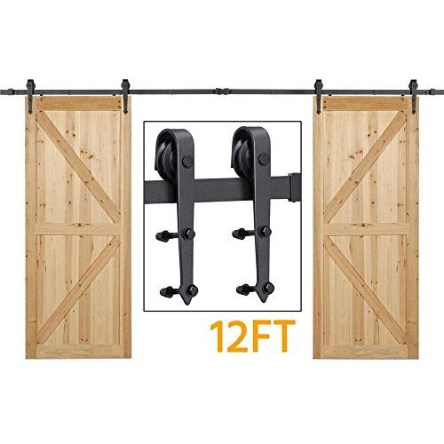 Double Barn Doors Amazon Com In 2020 Sliding Barn Door Closet Barn Door Closet Hardware