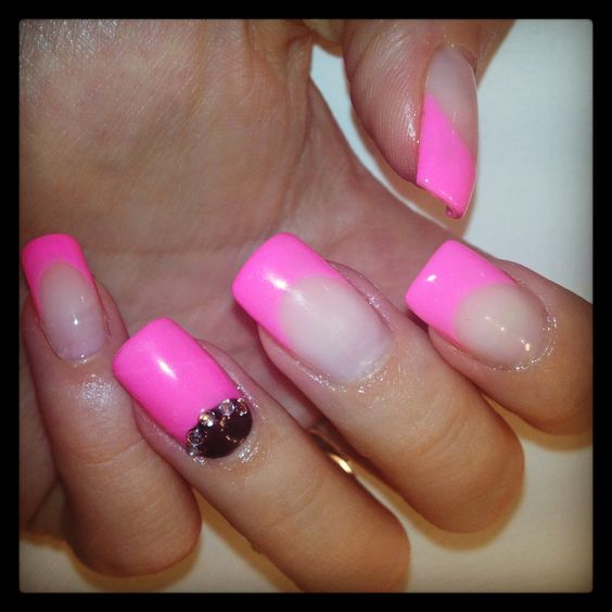 Crystal Gel Nail Video: Nail Pink, Gel Nails And Clear Crystal On Pinterest