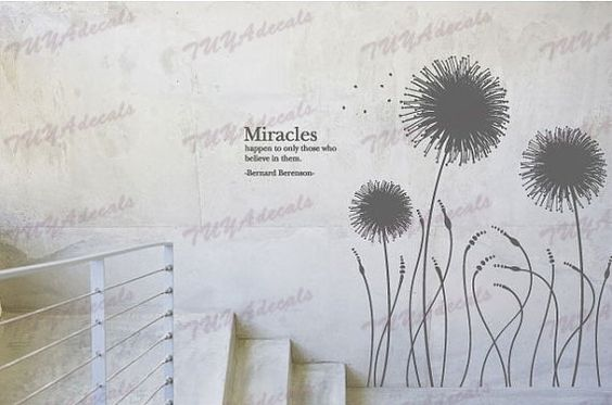 Nursery decal Vinyl Wall Decal Nature Design Tree Wall Decals chrildrens wall decals Wallstickers , wall decals :Miracles