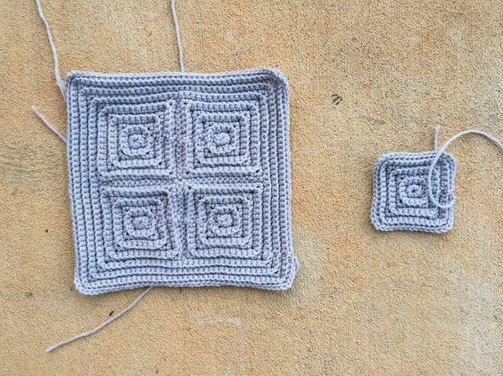 textured crochet squares, crochetbug, textured crochet blanket, textured crochet afghan, textured crochet throw, monochrome