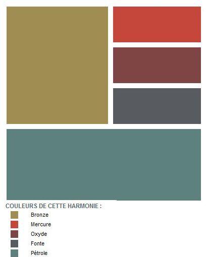 Un mois une couleur octobre le mur bronze souligne le relief des planches de chantier de for Peinture harmonie des couleurs