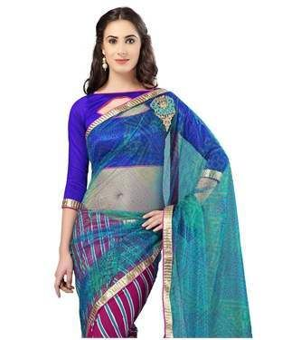 Georgette and Net Saree with Blouse | I found an amazing deal at fashionandyou.com and I bet you'll love it too. Check it out!