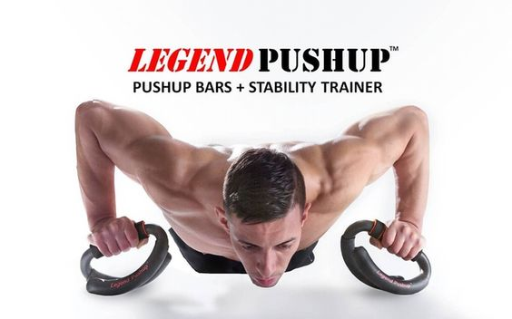 Pushup Bars meet Instability Trainer.  The Results: more muscle growth, better results, more fun.