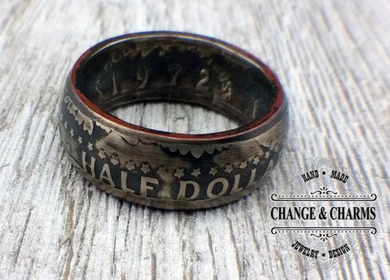 US Kennedy Half-Dollar Ring, Coin Rings, Rings