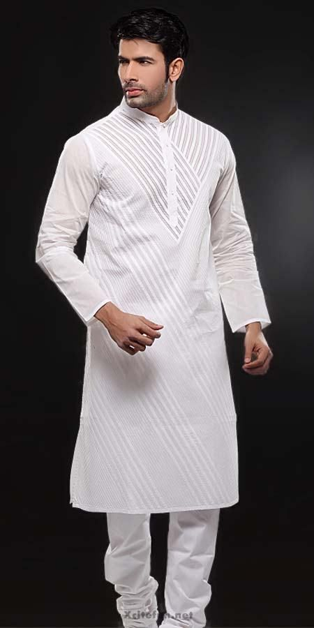 White Embroidery Salwar Kameez Designs For Men : Fashion ...