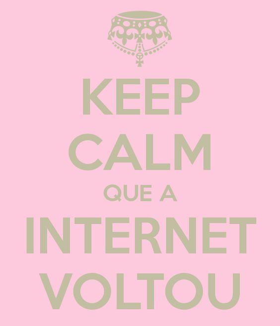 O Blog Que Não É Blog: A Internet voltou !! \o/