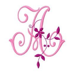 Free Embroidery Design Monogram 57 – A | Gosia Design