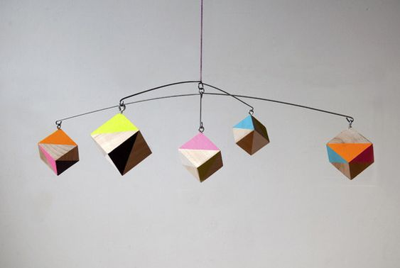 how to make geometric mobile