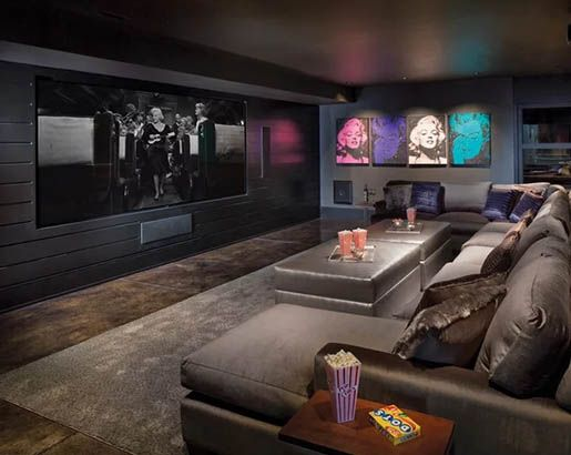 31 Home Theater Ideas That Will Make You Jealous Home Theater Decor Luxury Living Room Decor Home Cinema Room