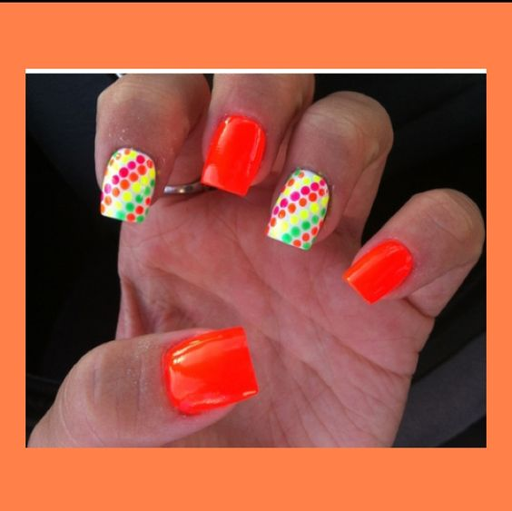 these nails are so bright and vibrant and colorful!