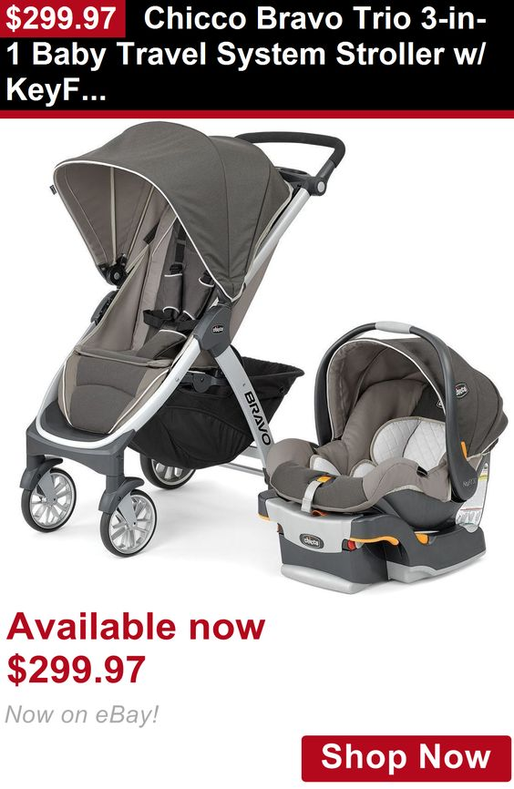 Strollers: Chicco Bravo Trio 3-In-1 Baby Travel System Stroller W/ Keyfit 30 Papyrus New BUY IT NOW ONLY: $299.97