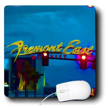 mp_185334_1 Jos Fauxtographee- Las Vegas - A sign in Las Vegas, Nevada that says Freemont Street East - Mouse Pads