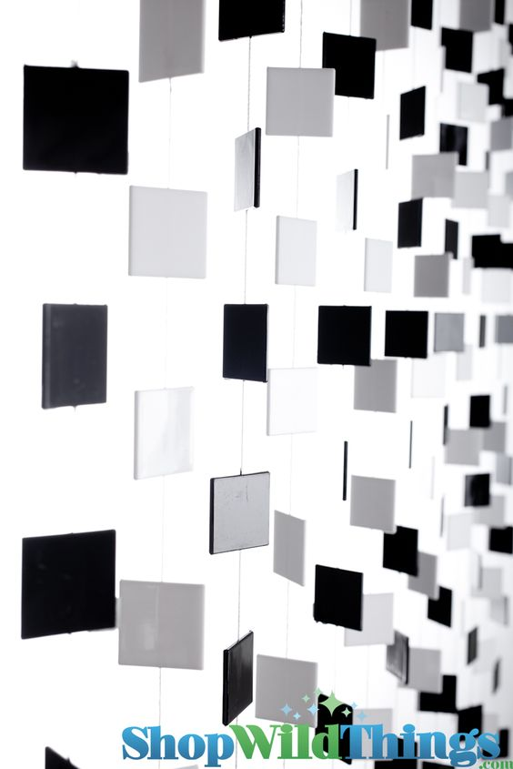 Squares Black N' White Beaded Curtain   Kiddo's bedrooms ideas ...