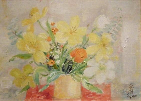 'Les Tulipes Jaunes,1974' by Le Pho