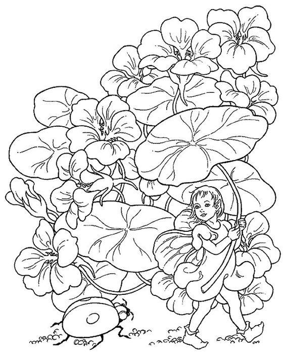 Fantasy Fargelegging for barn. Tegninger for utskrift og fargelegging nº 21