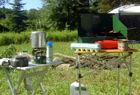 Coleman stoves in the field